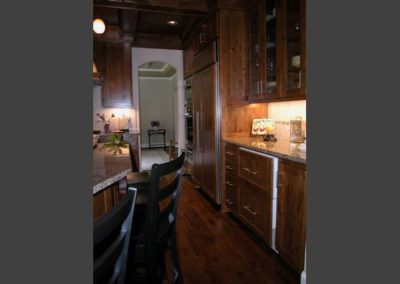 In addition to making this kitchen the central gathering place, a new wine cellar was constructed under the house that is temperature controlled.