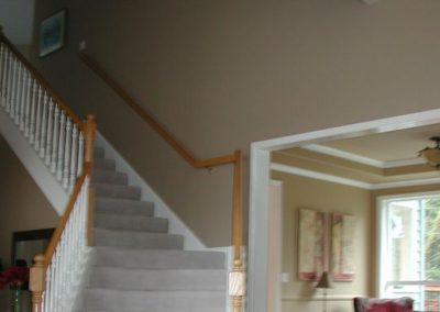 This straight staircase was replaced…